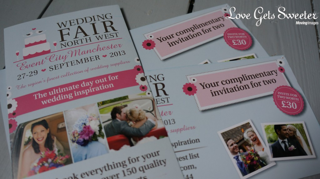North west wedding fair 2013 complimentary tickets 1