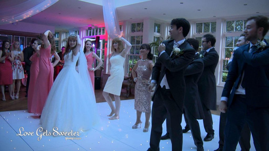 wedding party uptown funk flash mob Mitton Hall wedding video