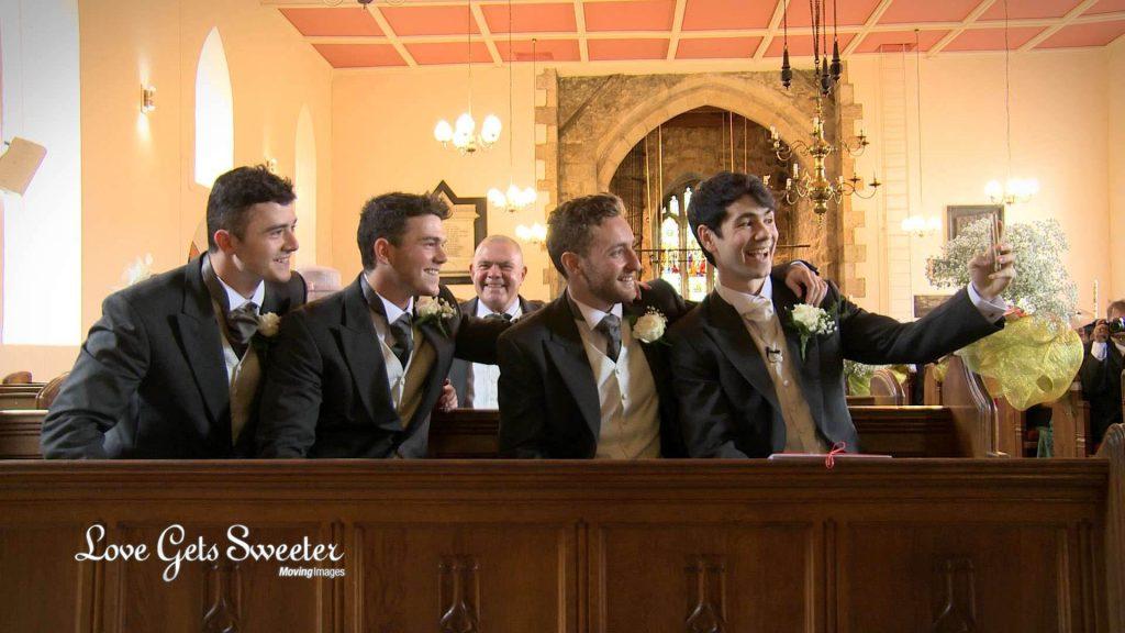 bridget-bens-wedding-video-groom-selfie-broughton