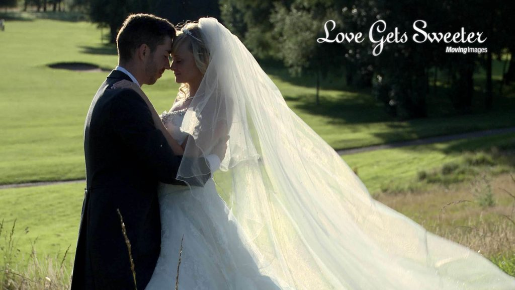 bride and groom having portraits in Cheshire filmed by Love Gets Sweeter
