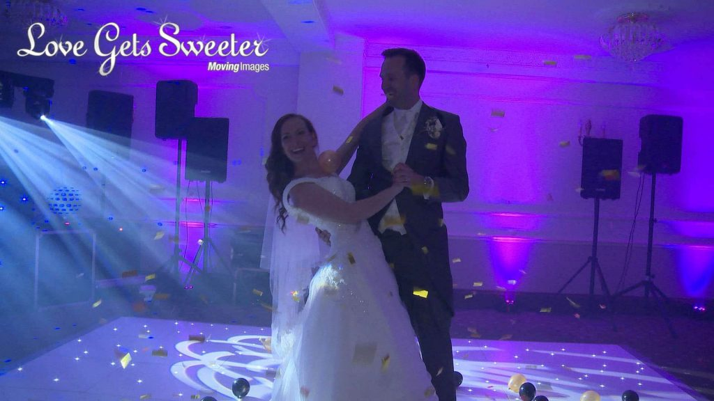 choreographed first dance to michael buble finished with a balloon and confetti canon