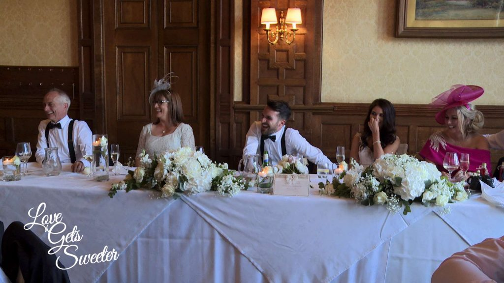 funny speech reactions caught on the wedding video at armathwaite hall
